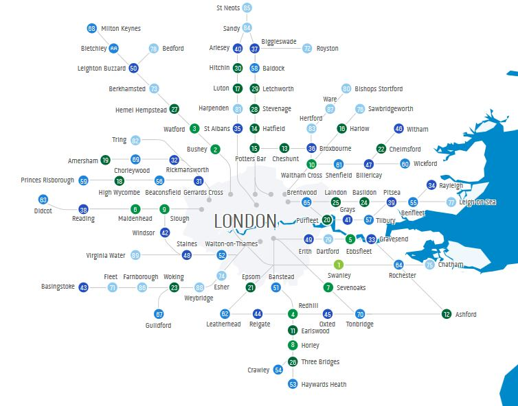 Where Is Londons Best Commuter Town For Your Money Your Life - Where is london